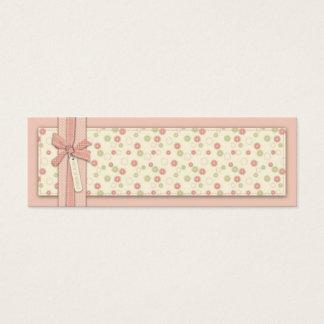 Tag magro floral do presente da menina bonito cartão de visitas mini
