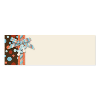 Tag magro OBB 2 do presente do menino Cartão De Visita Skinny