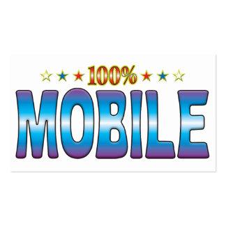 Tag móvel v2 da estrela modelos cartões de visita