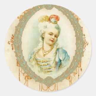 Tag novos das etiquetas do retrato de Marie Antoin Adesivos