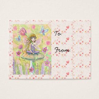 Tag pequenos doces do presente da fada e dos cartão de visitas