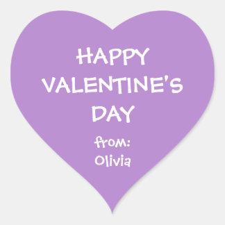 Tag personalizado namorados do presente do coração adesivo coração