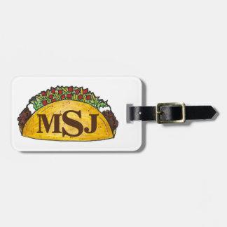 Tag personalizado Tacos da bagagem do Taco do Etiqueta De Mala
