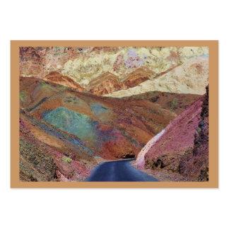 Tag pintados da loja de lembranças do deserto cartão de visita grande
