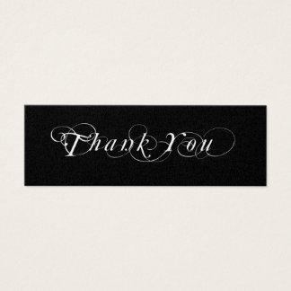 Tag preto e branco do presente do favor do cartão de visitas mini