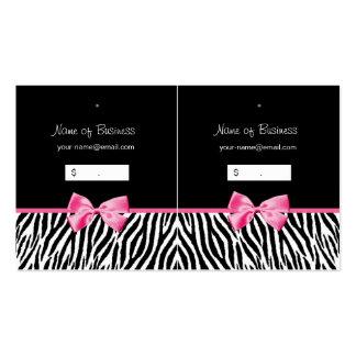 Tag preto e branco na moda do cair do impressão da cartão de visita