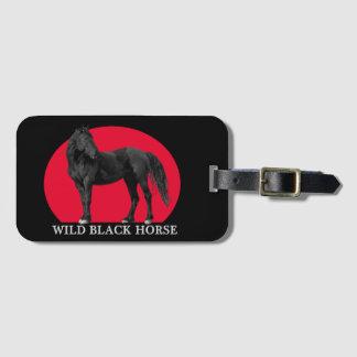 Tag preto selvagem da bagagem do logotipo do etiqueta de bagagem