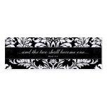 Tag pretos do casamento tema damasco do vintage modelos cartão de visita