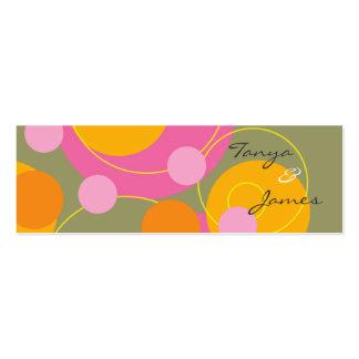 Tag suculento retro/obrigado do presente dos ponto modelo cartões de visita