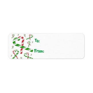 Tag verde vermelho Lables do presente do bastão de Etiqueta Endereço De Retorno
