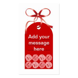 Tag vermelho da flor cartão de visita