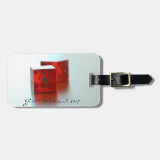 Tag vermelho personalizado da bagagem dos dados etiqueta de bagagem