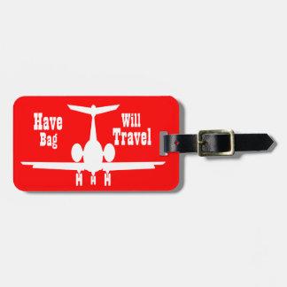Tag vermelho personalizado lunático da bagagem do etiqueta de mala