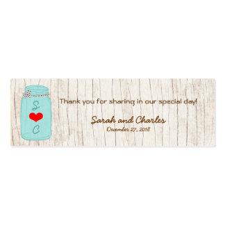 Tag vermelhos & da hortelã de pedreiro do frasco cartão de visita skinny