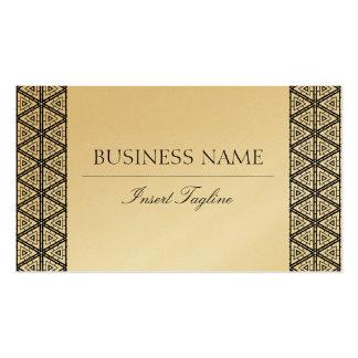 Tagline dourado cartão de visita