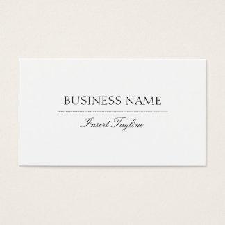 Tagline elegante cartão de visitas