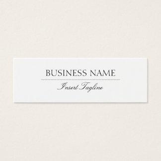 Tagline elegante cartão de visitas mini
