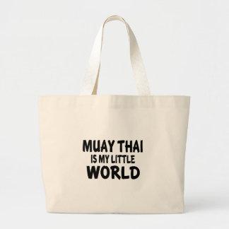Tailandês de Muay é meu mundo pequeno Sacola Tote Jumbo