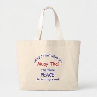Tailandês de Muay é minha religião Sacola Tote Jumbo