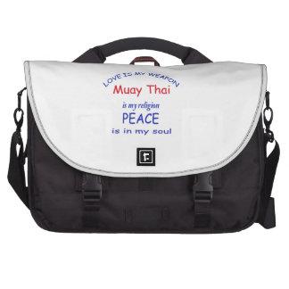 Tailandês de Muay é minha religião Pasta Para Laptop