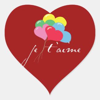 Taime de Je (eu te amo) Adesivo Coração