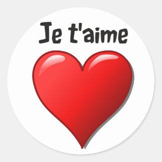 T'aime de Je - eu te amo em francês Adesivo