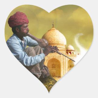 Taj Mahal Adesivo Coração