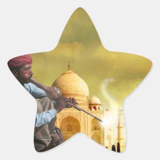 Taj Mahal Adesivo Estrela