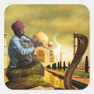 Taj Mahal Adesivo Quadrado