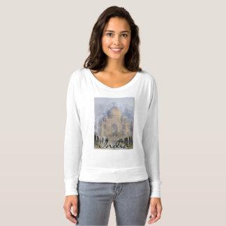 Taj Mahal em Agra India - aguarela da arte de Camiseta