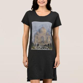Taj Mahal em Agra India - aguarela da arte de Vestido