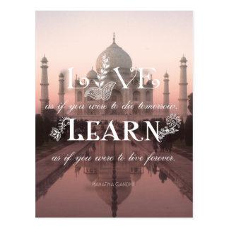 Taj Mahal India vivo aprende Gandhi - cartão