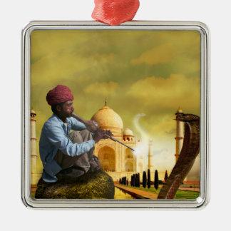 Taj Mahal Ornamento De Metal