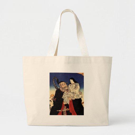 Takeuchi e o imperador infantil bolsas de lona