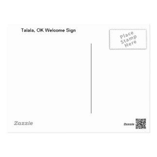 Talala, cartão APROVADO do sinal de boas-vindas