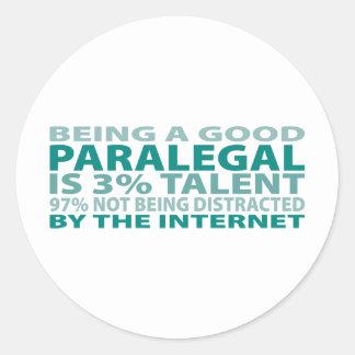 Talento do Paralegal 3% Adesivo Redondo