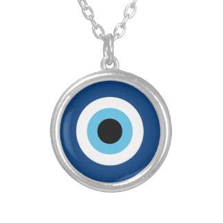 Talismã do olho mau colar com pendente redondo