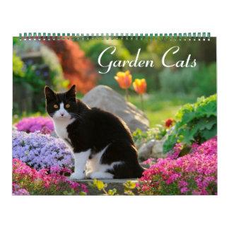 Tamanho dos gatos 2017 do jardim grande calendário