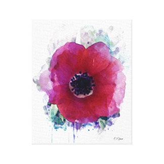 Tamanho médio vermelho das canvas #1| da papoila