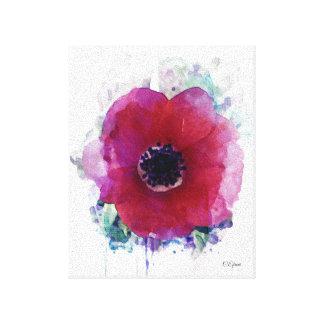 Tamanho vermelho das canvas #1|Small da papoila