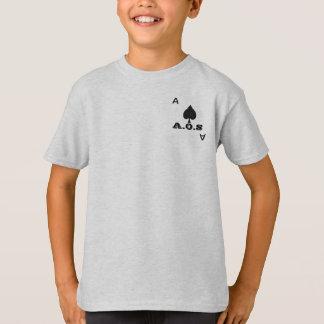 Tamanhos da juventude da camisa do bolso de cartão
