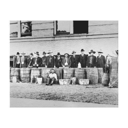 Tambores da cópia ilegal Licor, 1922 Impressão Em Tela Canvas