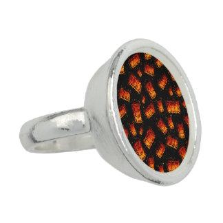Tambores de óleo flamejantes anel com foto