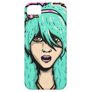 Tampa do telefone da menina de Emo Capa Para iPhone 5