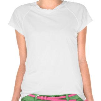 Tampe o t-shirt sleeved no branco com o logotipo