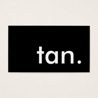TAN. cartão de perfurador da lealdade