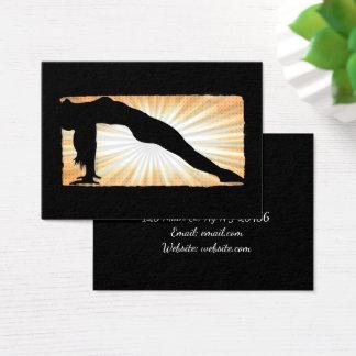 Tan e cartões de visitas pretos da ioga da