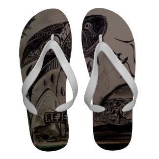Tangas do desenhista dos homens sandalia de dedo