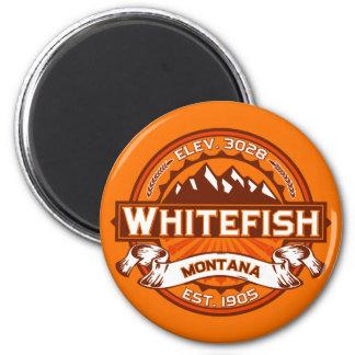 Tangerina do logotipo do peixe branco ima