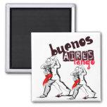 Tango de Buenos Aires Ímã Quadrado